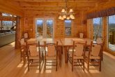 6 Bedroom Cabin with a Custom Made Dining Table