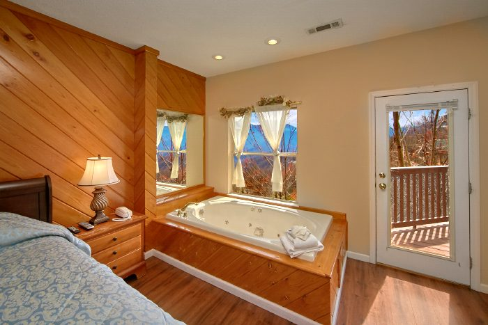 Cabin with Private Jacuzzi Tub and Mountain View - Second Glance
