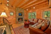 5 bedroom cabin with stone fireplace