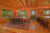 Cabin with large dining room and bar