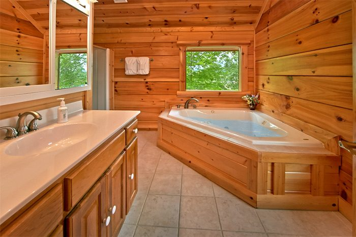 Cabin with jacuzzi tub and shower private bath - Shoot the Moon