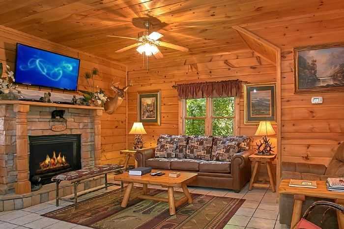 Resort Cabin with Sleeper Sofa and Fireplace - Simply Irresistible