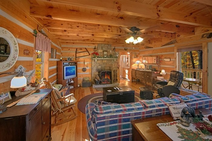 Cabin with Fireplace and Mountain Views - Sky High Hobby Cabin
