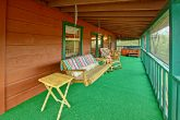 Spacious Deck with Porch Swing