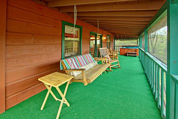 Spacious Deck with Porch Swing - Sleepy Ridge