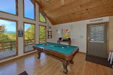 Pool Table in Private 3 bedroom cabin rental