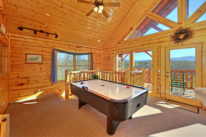 Air Hockey Table in Den - Smokies View