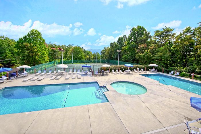 Chalet Village Resort Pool Access - Smoky Mountain High