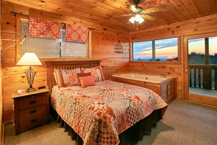 Cabin with queen suite and jacuzzi - Smoky Mountain Melody
