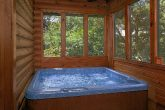 2 bedroom resort cabin with hot tub