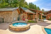 2 bedroom cabin with resort pool and hot tub