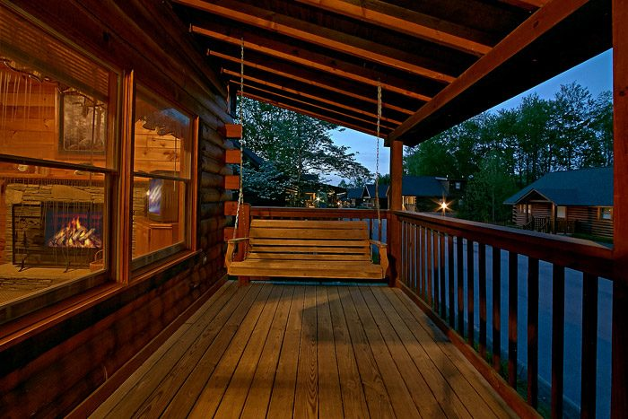 Front Deck Porch Swing - Southern Lights