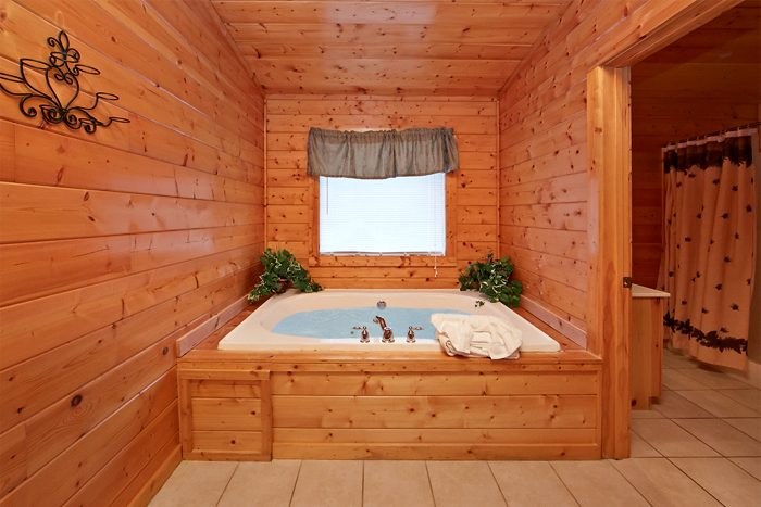 Rustic Pigeon Forge Cabin with Indoor Jacuzzi - Sparkling Dreams