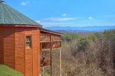 Custom Round Cabin with View of Mountains