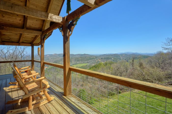 Deck off Living Room with Spectacular Views - Sugar Bear View
