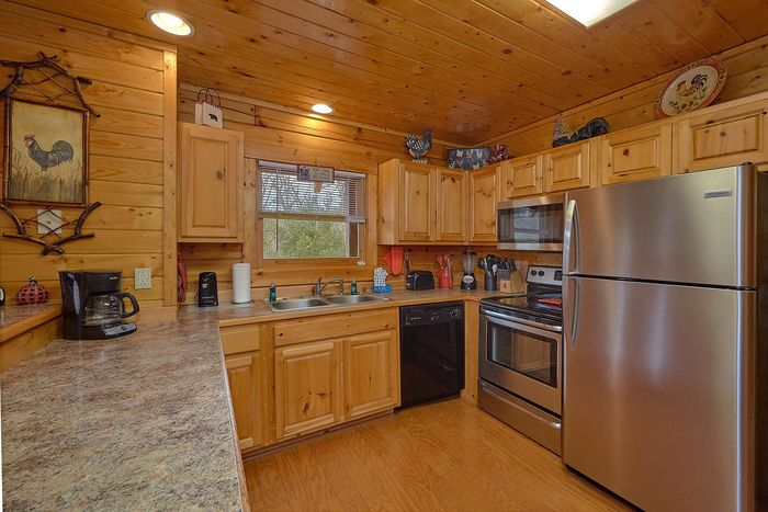 Kitchen with Bar & Seating - Suite Retreat