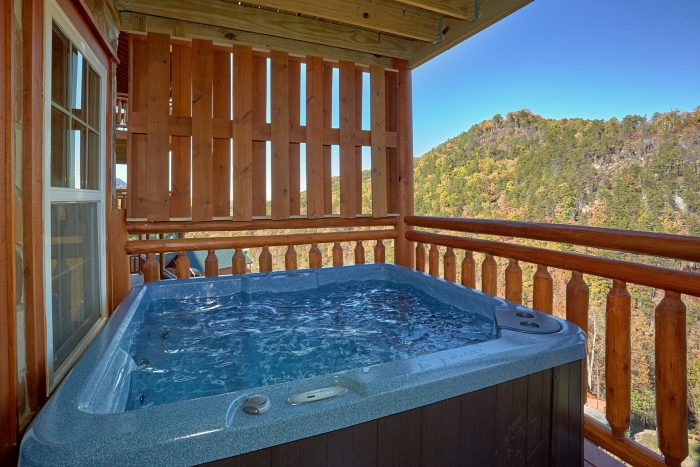 Hot Tub with Views On Back Deck - The Only TenISee