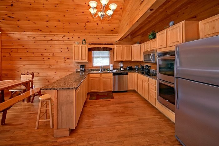 bedroom cabin with double oven timber lodge