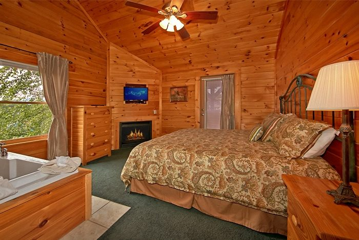 bedroom cabin with 2 jacuzzi tubs timber lodge