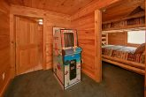 Cabin with stand up arcade game and pool table