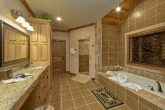 Master bath with Double Vanity and Jacuzzi Tub