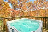 Cabin with oversize hot tub