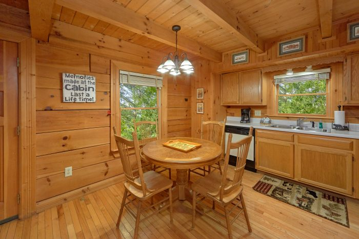 Honeymoon Cabin with Furnished Living Room - Wildflower Haven