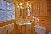 Cabin with spacious bathroom